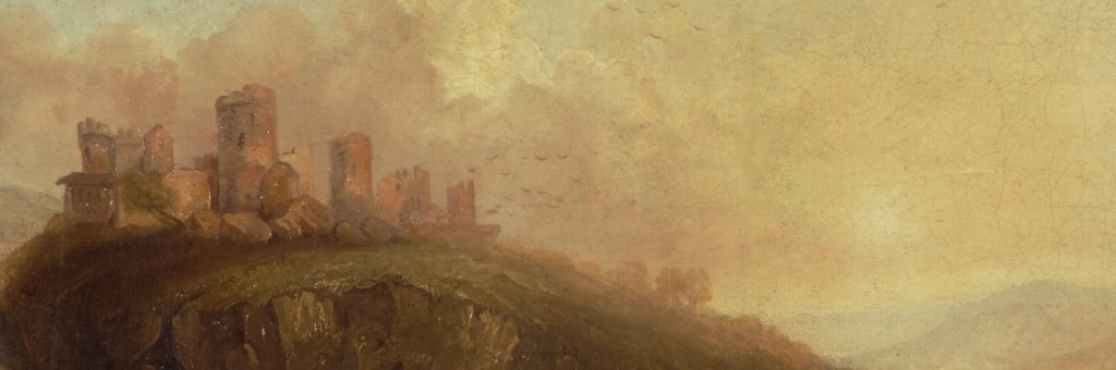 cutout from jmw turner: on the rhine - the castle